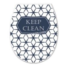Сиденье на унитаз пластик. Elif Plastic с рисунком (keep clean)