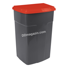 Бак мусорный 90 л. (темно-серый-красный) 122062