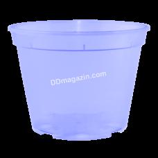 Вазон дренажный 12*9 см, 0,68 л (фиолетовый прозрачный) 114075