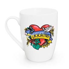 Кружка 360 мл Kvarta Украина сердце, капучино Kvarta