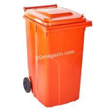 Бак мусорный 120 л. (оранжевый) 122064