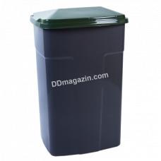 Бак мусорный 90 л. (темно-серый-зеленый) 122062