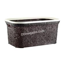 """Корзина для белья 47 л, Elif Plastic """"Ажур"""", 35 * 54 * 25 см (коричневый)"""