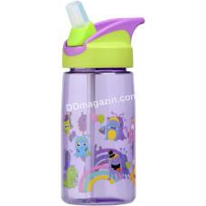 Бутылка для воды Ardesto Luna kids детская 500 мл, зелёная, тритан AR2201TM