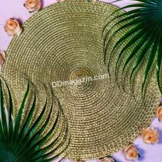 """Подставка под тарелку Olens """"Золото"""", d-38 см."""