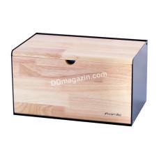 Хлебница Kamille 35.5*21.5*19.5см (бамбук, нержавеющая сталь) KM-1117
