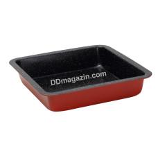 Форма для выпечки квадратная Bergner Bake Right red 22,5*22,5*4,5 см BG-5464