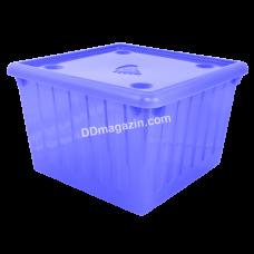 Контейнер с крышкой для хранения вещей  25л (голубой) 122043