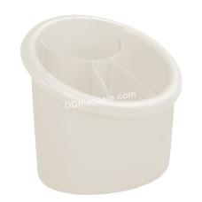 Подставка для столовых приборов (овальная) 15,3*12,5см (белая роза)167094