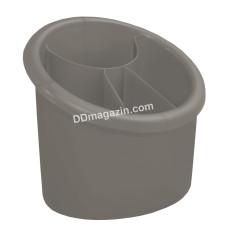Подставка для столовых приборов (овальная) 15,3*12,5см (какао)167094
