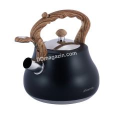 Чайник 2.7л Kamille из нержавеющей стали со свистком и бакелитовой ручкой KM-1092
