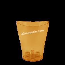 """Вазон для орхидей """"Ника"""" 13*15,5 (янтарный прозрачный) 114050"""