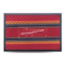 Ковер резиновый Dariana Multicolor 40*60 см, полуовал с ворсовым покрытием (светло-коричневый) 1000005178