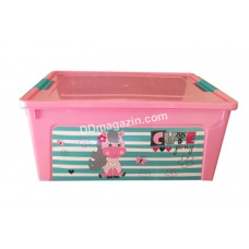 "Контейнер детский ""Smart Box"" с декором 7,9 л. Pet Shop (_рож. / Роз. / Бирюза.) 124046"