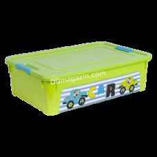 "Контейнер детский ""Smart Box"" с декором 14 л. My Car (_оливк. / Оливк. / Бирюза.) 123097"
