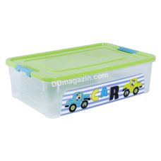 "Контейнер детский ""Smart Box"" с декором 14 л. My Car (_пр. / Оливк. / Бирюза.) 123097"