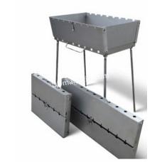 Мангал чемодан 6 шампуров (37*34 см)