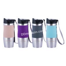 Чашка-термос 380 мл Kamille нерж. (4 цвета) KM-2052