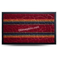 Ковер резиновый Dariana Multicolor 45 * 75 см, полуовал. с ворсовым покрытием (красный) 1000006075