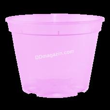 Вазон дренажный 9*6,5 см, 0,28 л (розовый прозрачный) 114073