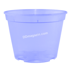 Вазон дренажный 9*6,5 см, 0,28 л (фиолетовый прозрачный) 114073