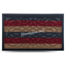 Ковер резиновый Dariana Grass 45*75 см с ворсовым покрытием (комби красный) 1000005226