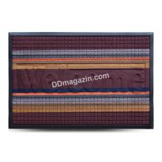 Ковер резиновый Dariana Multicolor 60*90 см с ворсовым покрытием (темно-коричневый) 1000006084
