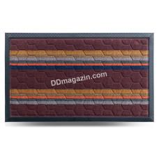 Ковер резиновый Dariana Multicolor 45*75 см, с ворсовым покрытием (темно-корич) 1000006080