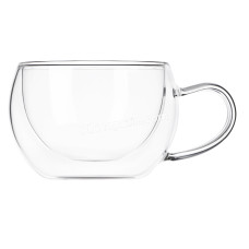 Набор чашек с ручками Ardesto с двойными стенками, 270 мл, H 7,5 см, 2шт, Боросиликатное стекло AR2627GH