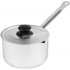 Ковш Калитва 1 л, алюминиевый с крышкой и ручкой металл. 14010 KA