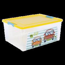 "Контейнер детский ""Smart Box"" с декором 7,9 л. My Car (_пр. / Т.жовт. / Бирюза.) 123096"