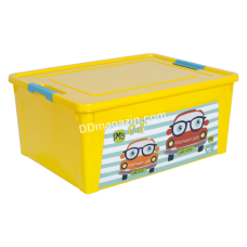 "Контейнер детский ""Smart Box"" с декором 7,9 л. My Car (_т.жовт. / Т.жовт. / Бирюза.) 123096"
