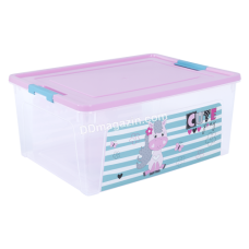 "Контейнер детский ""Smart Box"" с декором 7,9 л. Pet Shop (_пр. / Роз. / Бирюза.) 124046"