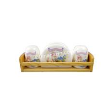 Набор для соли и перца Interos Принцессы с салфеток на подставке