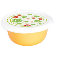 Миска с крышкой с декором 1,75 л. (Овощи, светло-оранжевая) 169053