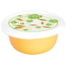Миска с крышкой с декором 2,75л. (Овощи, светло-оранжевая) 169054