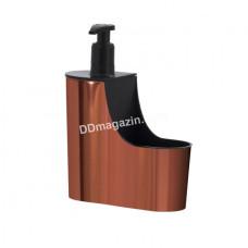 Дозатор для жидкого мыла с подставкой для губки HEREVIN Copper 20*14,5*6 см 161267-003