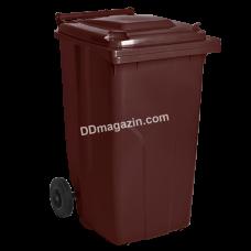 Бак мусорный 240 л (темно-коричневый) 122068