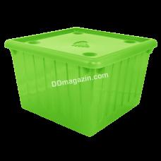 Контейнер для хранения вещей с крышкой 25 л (оливковый) 122043