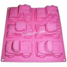 Форма силиконовая для выпечки маффинов Empire Машинки на 6шт. 33*24,5*5см EM-7143