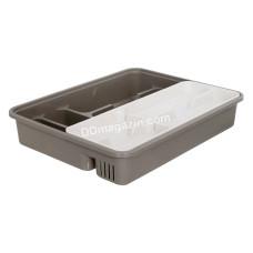 Лоток для столовых приборов со вставкой, 39.5*30.5*7 см (какао / белая роза) 167402