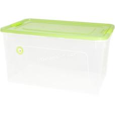 """Контейнер универсальный """"Smart Box"""" Practice 27,0 л. (прозрачный /оливковый) 126083"""