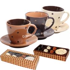 Сервиз чайный S&T Карамель 12 пр. (Чашка-200мл, блюдце d-14см) (1517-02)