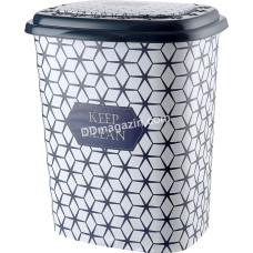 Корзина для белья 45 л, Elif Plastic с рисунком, 38*45*53 см (keep clean)
