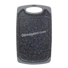 Доска разделочная Kamille 15*25*0.8 см пластиковая (серый мрамор) KM-10057A