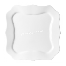 Тарелка Luminarc Authentic White обеденный квадратная 26см 1300