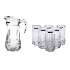 Набор для сока Luminarc Brighton (кувшин 1,8 л, стаканы 310 мл 6 шт) 7 предметов 0782N