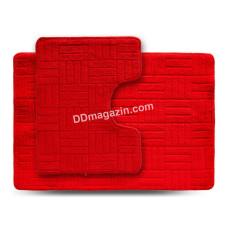 Набор ковров в ванную комнату Dariana Econom 55*80+55*42 см (2шт.) (Красный) 1000006544