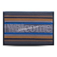 Ковер резиновый Dariana Multicolor 60*90 см с ворсовым покрытием (светло-серый) 1000006085