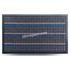 Ковер резиновый Dariana Multicolor 45*75 см с ворсовым покрытием (темно-серый)